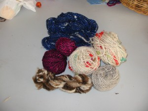 Some of the less conventional yarn we have spun.
